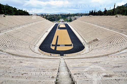 Assunto: Estádio Panathinaikos (1896) - onde foram disputadas os primeiros Jogos Olímpicos da era moderna / Local: Atenas - Grécia - Europa / Data: 04/2011