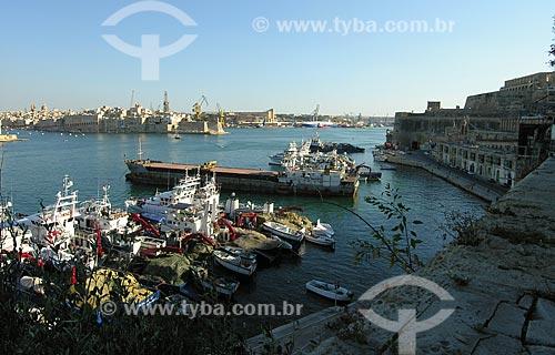 Assunto: Barcos atracados no Cais da Pedreira / Local: Valeta - República de Malta - Europa / Data: 06/2008