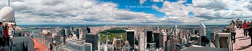 Assunto: Vista do Top of The Rock (topo da rocha) em Manhattan com o Central Park no centro / Local: Manhattan - Nova Iorque - Estados Unidos - América do Norte / Data: 09/2010