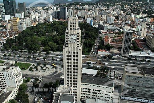 Assunto: Vista da Praça da República, Avenida Presidente Vargas e Torre do relógio da Estação Central do Brasil / Local: Cidade Nova - Rio de Janeiro (RJ) - Brasil / Data: 12/2012