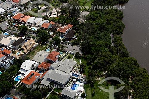 Assunto: Vista de prédios do bairro Barra da Tijuca e lagoa de Marapendi / Local: Rio de Janeiro - Rio de Janeiro (RJ) - Brasil / Data: 12/2012