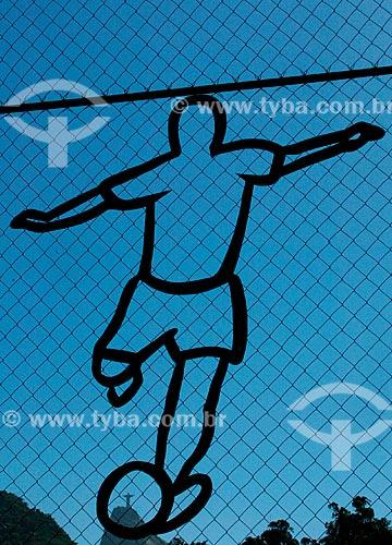 Assunto: Desenho na tela de proteção do Fluminense Football Club / Local: Laranjeiras - Rio de Janeiro (RJ) - Brasil / Data: 01/2008