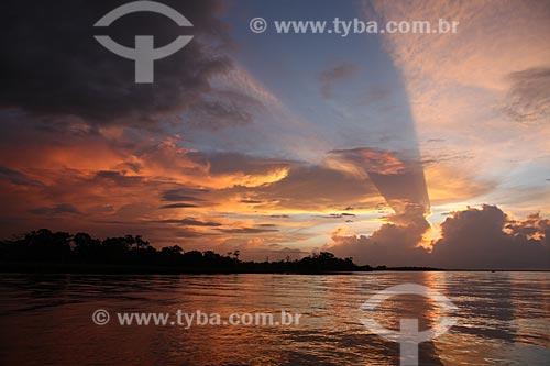 Assunto: Amanhecer no Rio Araguari / Local: Amapá (AP) - Brasil / Data: 05/2012