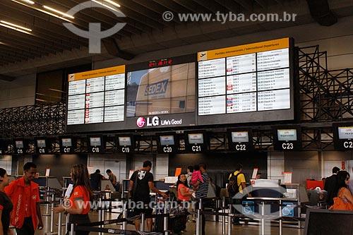 Assunto: Saguão do Aeroporto Internacional Governador André Franco Montoro (Aeroporto de Cumbica) / Local: Guarulhos - São Paulo (SP) - Brasil / Data: 10/2012