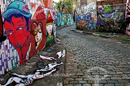 Assunto: Grafites na rua Beco do Batman / Local: Vila Madalena - São Paulo (SP) - Brasil / Data: 07/2009