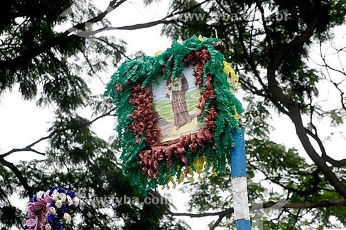 Assunto: Mastro de São João utilizado em Festa Junina / Local: Justinópolis - Minas Gerais (MG) - Brasil / Data: 10/2005