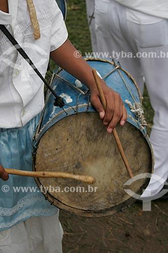 Assunto: Tambor utilizado em Congada / Local: Justinópolis - Minas Gerais (MG) - Brasil / Data: 10/2005
