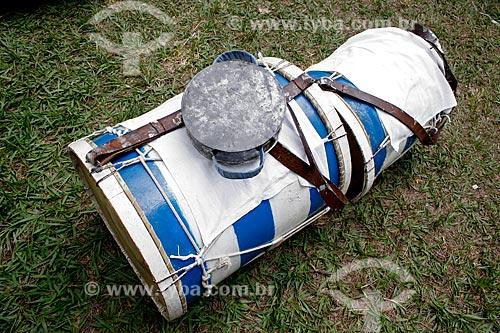 Assunto: Instrumentos musicais da Cia de Moçambique / Local: Justinópolis - Minas Gerais (MG) - Brasil / Data: 10/2010