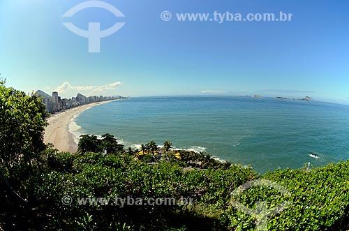 Assunto: Orla vista a partir do Parque Natural Municipal Penhasco Dois Irmãos / Local: Leblon - Rio de Janeiro (RJ) - Brasil / Data: 08/2012