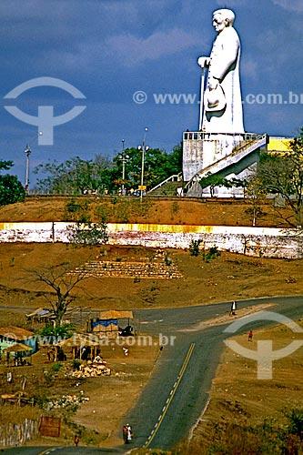 Assunto: Vista da estátua de Padre Cícero / Local: Juazeiro do Norte - Ceará (CE) - Brasil / Data: 1993