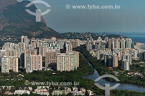 Assunto: Vista do Canal de Marapendi e prédio da Barra da Tijuca / Local: Barra da Tijuca - Rio de Janeiro (RJ) - Brasil / Data: 12/2012