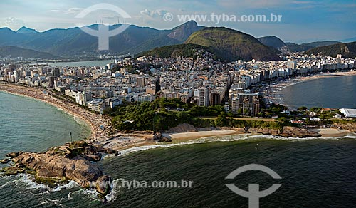 Assunto: Vista aérea das praias de Ipanema, Arpoador e Copacabana / Local: Rio de Janeiro (RJ) - Brasil / Data: 12/2012
