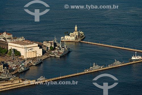 Assunto: Vista aérea da Ilha Fiscal e de parte da Ilha das Cobras / Local: Rio de Janeiro (RJ) - Brasil / Data: 12/2012