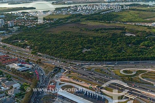 Assunto: Vista do Bosque da Barra, Cidade das Artes e terminal BRT (Bus Rapid Transit) / Local: Barra da Tijuca - Rio de Janeiro (RJ) - Brasil / Data: 01/2013