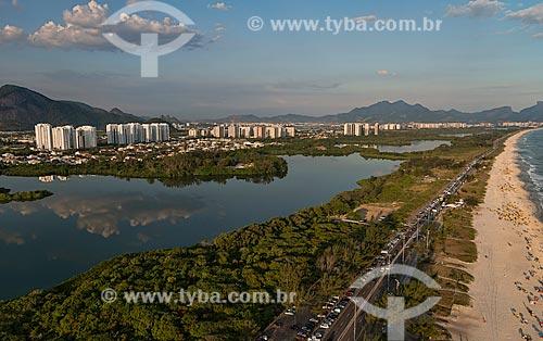 Assunto: Vista da lagoa de Marapendi e da Praia da Barra da Tijuca / Local: Barra da Tijuca - Rio de Janeiro (RJ) - Brasil / Data: 01/2013