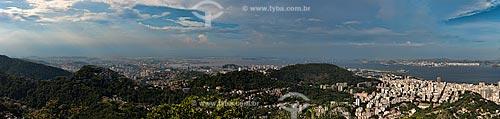 Assunto: Vista do Centro e da Zona Norte com a Baía de Guanabara ao fundo / Local: Rio de Janeiro (RJ) - Brasil / Data: 01/2013