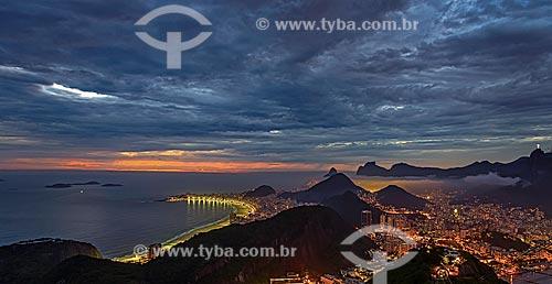 Assunto: Praia de Copacabana vista a partir do Pão de Açúcar / Local: Rio de Janeiro (RJ) - Brasil / Data: 01/2013