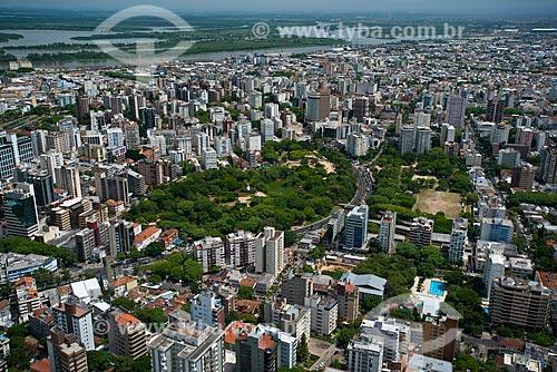 Assunto: Vista aérea do Parque Moinhos de Vento com o Delta do Jacuí ao fundo / Local: Moinhos de Vento - Porto Alegre - Rio Grande do Sul (RS) - Brasil / Data: 12/2012