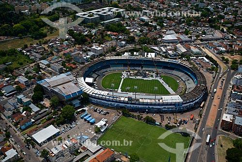 Assunto: Vista aérea do Estádio Olímpico Monumental (1954) / Local: Medianeira - Porto Alegre - Rio Grande do Sul (RS) - Brasil / Data: 12/2012