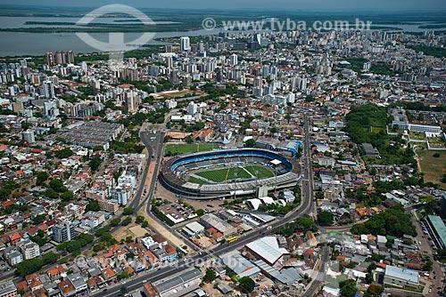 Assunto: Vista aérea do Estádio Olímpico Monumental (1954) com o Lago Guaíba ao fundo / Local: Medianeira - Porto Alegre - Rio Grande do Sul (RS) - Brasil / Data: 12/2012
