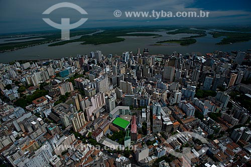 Assunto: Vista aérea do centro histórico de Porto Alegre / Local: Porto Alegre - Rio Grande do Sul (RS) - Brasil / Data: 12/2012