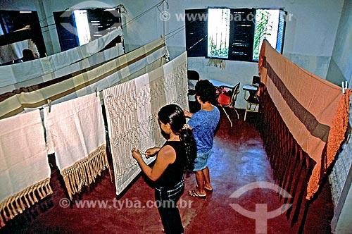 Assunto: Tapetes feitos com algodão orgânico colorido desenvolvido pela EMBRAPA ALGODÃO / Local: Campina Grande - Paraíba (PB) - Brasil / Data: 2002