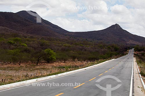 Assunto: Rodovia PE-320 ligando as cidades de Serra Talhada a São José do Egito / Local: Pernambuco (PE) - Brasil / Data: 01/2013