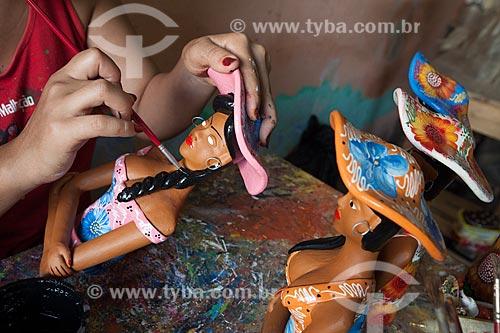 Assunto: Artesanato em cerâmica da família Vitalino / Local: Alto do Moura - Caruaru - Pernambuco (PE) - Brasil / Data: 01/2013