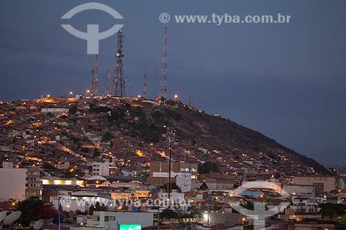 Assunto: Vista noturna do Monte Bom Jesus / Local: Caruaru - Pernambuco (PE) - Brasil / Data: 01/2013