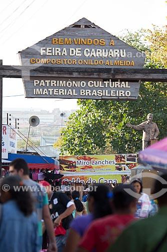 Assunto: Entrada da Feira de Caruaru Compositor Onildo Almeida / Local: Caruaru - Pernambuco (PE) - Brasil / Data: 01/2013