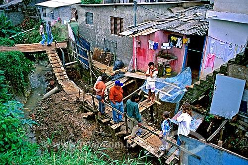 Assunto: Casas na favela de Heliópolis / Local: Cidade Nova Heliópolis - São Paulo (SP) - Brasil / Data: 1994