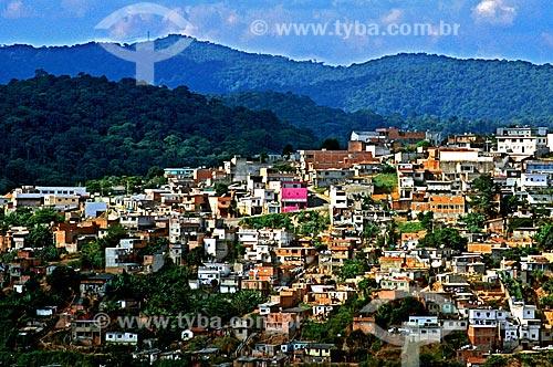 Assunto: Casas construídas em área de risco na Serra da Cantareira / Local: São Paulo (SP) - Brasil / Data: 1998