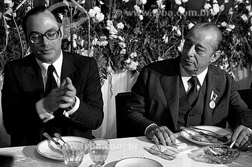 Assunto: Paulo Maluf e João Batista Figueiredo em campanha presidencial / Local: São Paulo (SP) - Brasil / Data: 1978