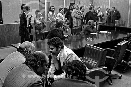 Assunto: Luiz Inácio Lula da Silva em reunião com empresários na Justiça do Trabalho / Local: São Paulo (SP) - Brasil / Data: 1979