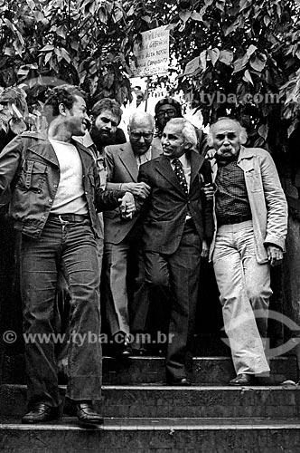 Assunto: Retorno ao Brasil do político João Amazonas anistiado em 1979 / Local: Vila Congonhas - São Paulo (SP) - Brasil / Data: 1979