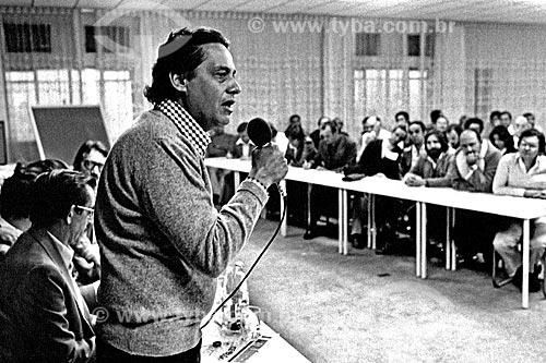 Assunto: Fernando Henrique Cardoso no encontro do Sindicato dos Siderúrgicos e Metalúrgicos / Local: São Bernardo do Campo - São Paulo (SP) - Brasil / Data: 1980