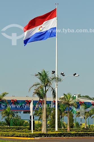 Assunto: Bandeira do Paraguai / Local: Pedro Juan Caballero - Departamento de Amambay - Paraguai - América do Sul / Data: 11/2012