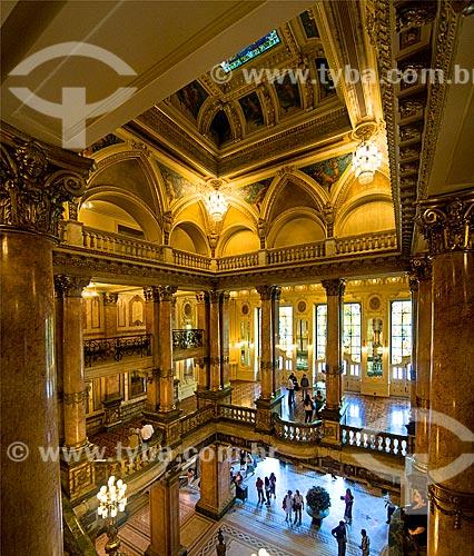 Assunto: Foyer do Theatro Municipal do Rio de Janeiro / Local: Centro - Rio de Janeiro (RJ) - Brasil / Data: 12/2012