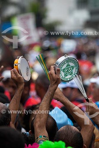 Assunto: Tamborins no desfile da Banda de Ipanema / Local: Ipanema - Rio de Janeiro (RJ) - Brasil / Data: 01/2013