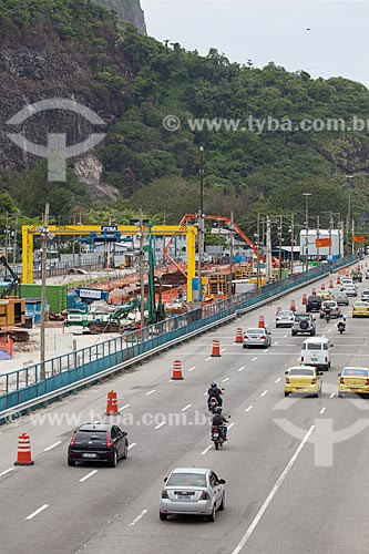 Assunto: Canteiro de obra da Linha 4 do Metrô - Estação Jardim Oceânico / Local: Barra da Tijuca - Rio de Janeiro (RJ) - Brasil / Data: 01/2013