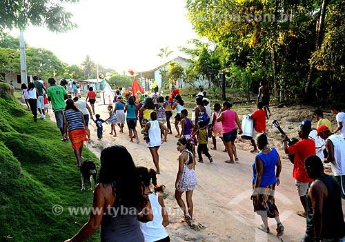Assunto: Reisado em aldeia indígena de Barra Velha / Local: Porto Seguro - Bahia (BA) - Brasil / Data: 01/2013