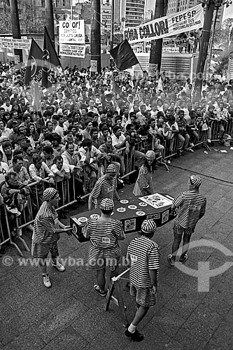 Assunto: Manifestação pró impeachment do Presidente Fernando Collor de Mello na Praça da Sé / Local: Sé - São Paulo (SP) - Brasil / Data: 08/1992