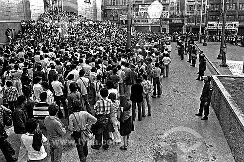 Assunto: Manifestação do Movimento Contra a Carestia na Praça da Sé / Local: Sé - São Paulo (SP) - Brasil / Data: 08/1978