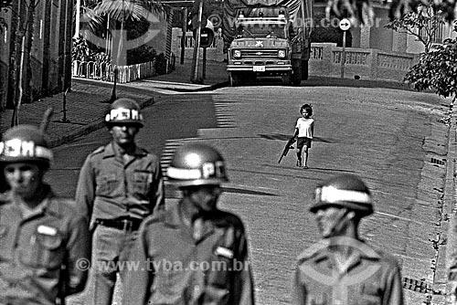 Assunto: Intervenção policial no Sindicato dos Metalúrgicos do ABC / Local: São Bernardo do Campo - São Paulo (SP) - Brasil / Data: 1980