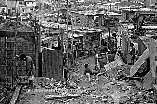 Assunto: Casas na favela de Heliópolis / Local: Cidade Nova Heliópolis - São Paulo (SP) - Brasil / Data: 1992