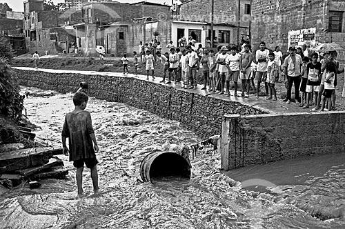 Assunto: Enchente na comunidade de Heliópolis / Local: São Paulo (SP) - Brasil / Data: 1992
