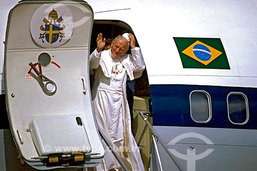 Assunto: Visita do Papa João Paulo II ao Brasil / Local: Brasília - Distrito Federal (DF) - Brasil / Data: 1980