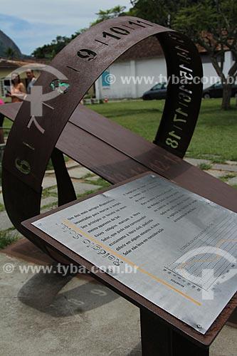 Assunto: Relógio de Sol Equatorial no Jardim Botânico do Rio de Janeiro / Local: Jardim Botânico - Rio de Janeiro (RJ) - Brasil / Data: 01/2013