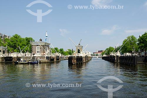 Assunto: Eclusa em Amsterdam / Local: Amsterdam - Holanda - Europa / Data: 05/2012