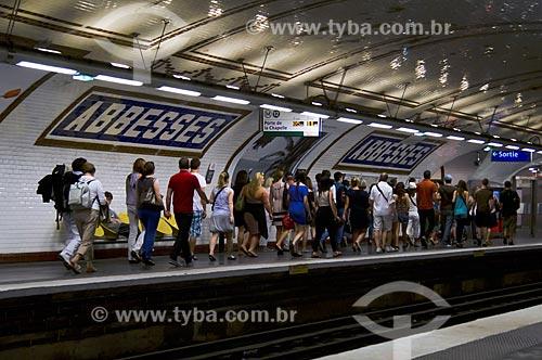 Assunto: Estação Abssess do metrô de Paris / Local: Montmartre - Paris - França - Europa / Data: 05/2012